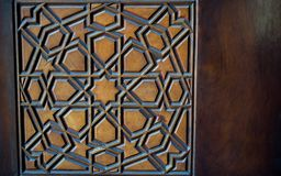Ottoman Turkish  art with geometric patterns. On wood Royalty Free Stock Images