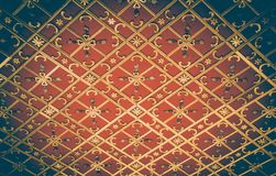 Ottoman Turkish art with geometric patterns. In view royalty free stock image