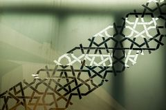 Ottoman Turkish art with geometric patterns. In view royalty free stock photo