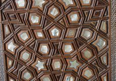 Ottoman Turkish art with geometric patterns. In view stock photos