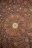 Ottoman  art with geometric patterns on wood. Ottoman Turkish  art with geometric patterns on wood Stock Photography