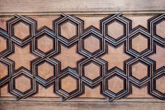 Ottoman  art with geometric patterns on wood. Ottoman Turkish  art with geometric patterns on wood Royalty Free Stock Images