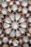 Ottoman  art with geometric patterns on wood. Ottoman Turkish  art with geometric patterns on wood Stock Photos
