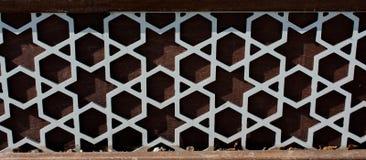 Ottoman Turkish  art with geometric patterns. On wood Stock Image