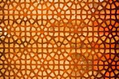 Ottoman Turkish  art with geometric patterns. On wood Royalty Free Stock Photo