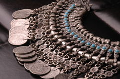 Ottoman Turquoise Jewelry. Ottoman jewelry in silver with turquoise stones Stock Images