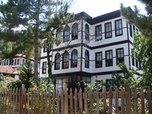 Ottoman villa. Old bolu houses Stock Photography