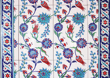 Ottoman Wall Tiles Stock Images
