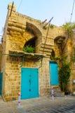 Ottomanbyggnad i den gamla staden av tunnlandet Akko royaltyfria foton