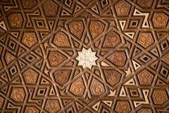 Ottomankonst i geometriska modeller på trä Arkivbilder