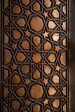 Ottomankonst i geometriska modeller på trä Arkivbild