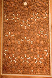 Ottomankonst i geometriska modeller på trä Arkivfoto