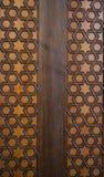 Ottomankonst med geometriska modeller på trä Royaltyfria Foton