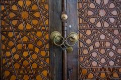 Ottomankonst med geometriska modeller på trä Arkivfoton