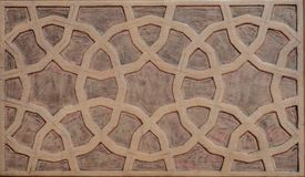 Ottomankonst med geometriska modeller på trä Royaltyfria Bilder