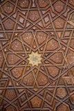 Ottomankonst med geometriska modeller på trä Arkivbild