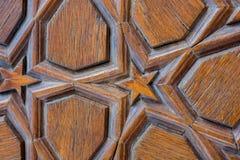Ottomankonst med geometriska modeller på trä Royaltyfri Fotografi