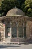 Ottomanmarmor som snider konst i blom- modeller Royaltyfria Bilder
