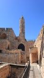 Ottomanminaret av tornet av David Site Royaltyfri Fotografi