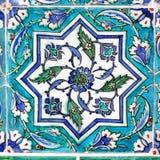 Ottomantegelplatta i turkos Royaltyfri Foto