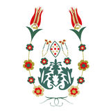 Ottomantulpan- och blommabakgrund Arkivfoton