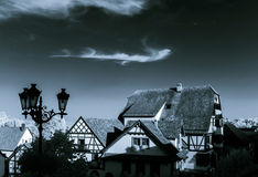 Ottrott village infra red view. France, Alsace Stock Photo