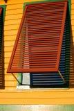 Otturatore della finestra fotografia stock