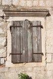 Otturatore della finestra del Brown Fotografia Stock