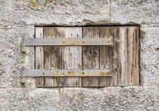Otturatore di legno della finestra Fotografia Stock Libera da Diritti