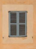 Otturatore spagnolo tipico della finestra Fotografia Stock