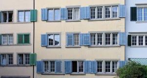Otturatori colorati della finestra Fotografia Stock Libera da Diritti