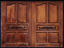 Otturatori di legno stagionati invecchiati della finestra Fotografie Stock Libere da Diritti