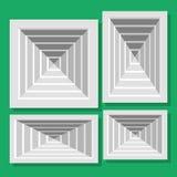 Otturatori di ventilazione del soffitto Fotografia Stock Libera da Diritti