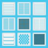 Otturatori quadrati di ventilazione Fotografia Stock
