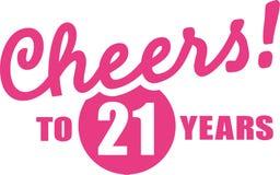Otuchy 21 rok - 21st urodziny Obraz Royalty Free