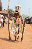 Otuo年龄层节日-化妆舞会在尼日利亚 免版税图库摄影