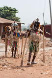 Otuo-Alters-Grad-Festival - Maskerade in Nigeria  Stockfotografie