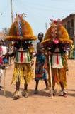 Otuo Ukpesose festival - Itu-maskerad i Nigeria Royaltyfri Bild