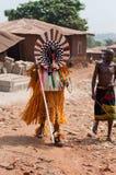 Otuo Ukpesose festival - Itu-maskerad i Nigeria Royaltyfri Fotografi