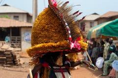 Otuo Ukpesose festival - Itu-maskerad i Nigeria Royaltyfria Foton