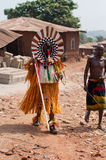 Masquerade in Nigeria. Otuo Age Grades Festival royalty free stock photography