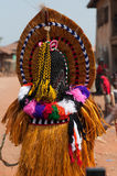 Masquerade in Nigeria. Otuo Age Grades Festival - Otuo is made up of 12 quarters namely : Amoya,Ohigba,Oluma,Amoho,Olila,Orake,Obo,Uree,Imafen,Iyeu,Iziokhai Stock Photography