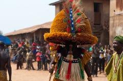 Фестиваль Otuo Ukpesose - Itu Masquerade в Нигерии Стоковое Изображение