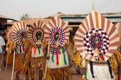 Фестиваль Otuo Ukpesose - Itu Masquerade в Нигерии Стоковая Фотография