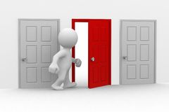 otwórz drzwi royalty ilustracja