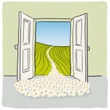otwórz drzwi ilustracja wektor