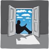 otwórz drzwi Zdjęcia Stock