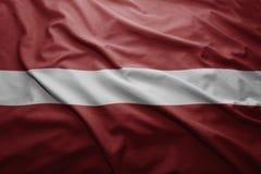 Łotwa bandery Obraz Royalty Free