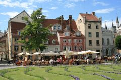 łotwa laukums livu square Riga Zdjęcia Royalty Free