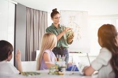Otwarci kobiety studiowania dzieciaki robi zabawce obraz royalty free